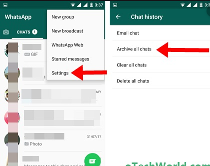 Archive All Chat WhatsApp