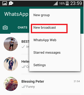 Broadcast a Single WhatsApp Message to all Your Contact