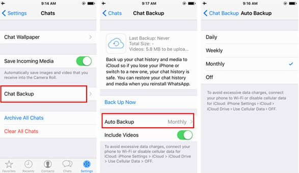 Can Have Back up of Your WhatsApp Chats iPhone