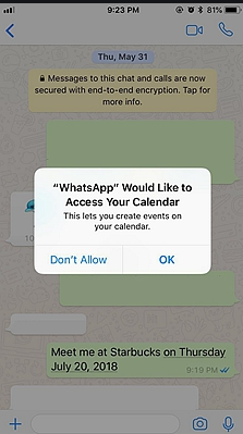 Instantly add dates to your calendar
